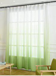Window Screen Ombre Decorative Sheer Tulle Curtain - GREEN W42*L63INCH
