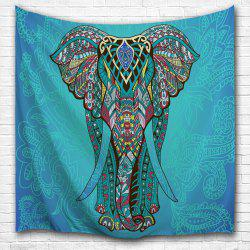 Ethnic Elephant Wall Hanging Art Decor Tapestry - Lake Blue - W59 Inch * L79 Inch