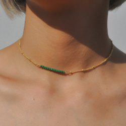 Beaded Collarbone Chain Necklace