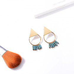 Round Triangle Fringed Earrings