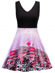 Sleeveless Printed Skater Dress