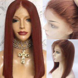 Long Free Part Glossy Straight Bob Lace Front Human Hair Wig