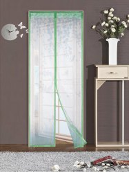 Self-Closing Anti Insects Mesh Magnetic Door Curtain - GREEN 100*210CM