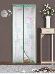 Mesh Breathable Curtain Anti Insects Magnetic Door Screen - GREEN 90*210CM