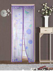 Insect Stopping Net Dandelion Door Screen Magnetic Curtain - PURPLE 90*210CM
