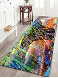 Flannel Antiskid Elephant Colorful Bathroom Rug - Colorful - W16 Inch * L47 Inch