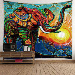 Hippie Elephant Sunlight Wall Hanging Tapestry - Coloré