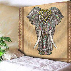 Elephant Print Wall Hanging Microfiber Tapestry