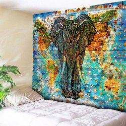 Elephant Wall Hanging World Map Tapestry