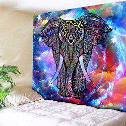 Wall Hanging Star Sky Elephant Print Tapestry - Starry Sky Pattern - W59 Inch * L79 Inch