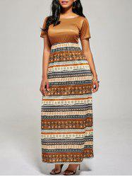 Floor Length A Line Boho Dress -