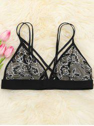 Mesh Sheer Lace Bralette - BLACK S