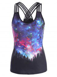 3D Galaxy Starry Sky Print Tank Top