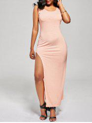 Criss Cross Slit Side Club Bodycon Dress