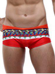 Colorful Tribal Print Drawstring Swimming Trunks