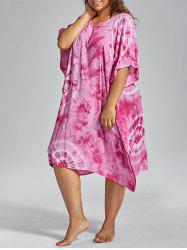 Plus Size Cover Up Dress with Batwing Sleeve