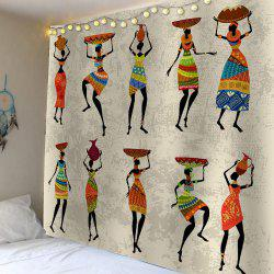 African Girl Print Waterproof Wall Hanging Tapestry