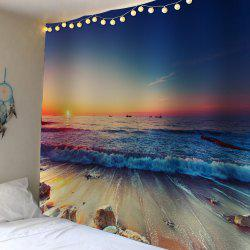 Waterproof Sunset Seaside Wall Tapestry - Colorful - W59 Inch * L79 Inch