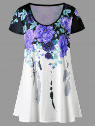 Plus Size Floral Longline Top
