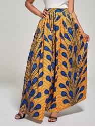 African High Waist Printed Skirt - DEEP YELLOW