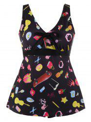 Printed Plus Size Tankini Set