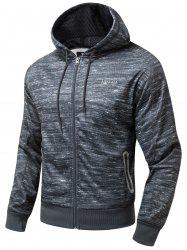 Zip Up Polar Fleece Hoodie - CHARCOAL GRAY