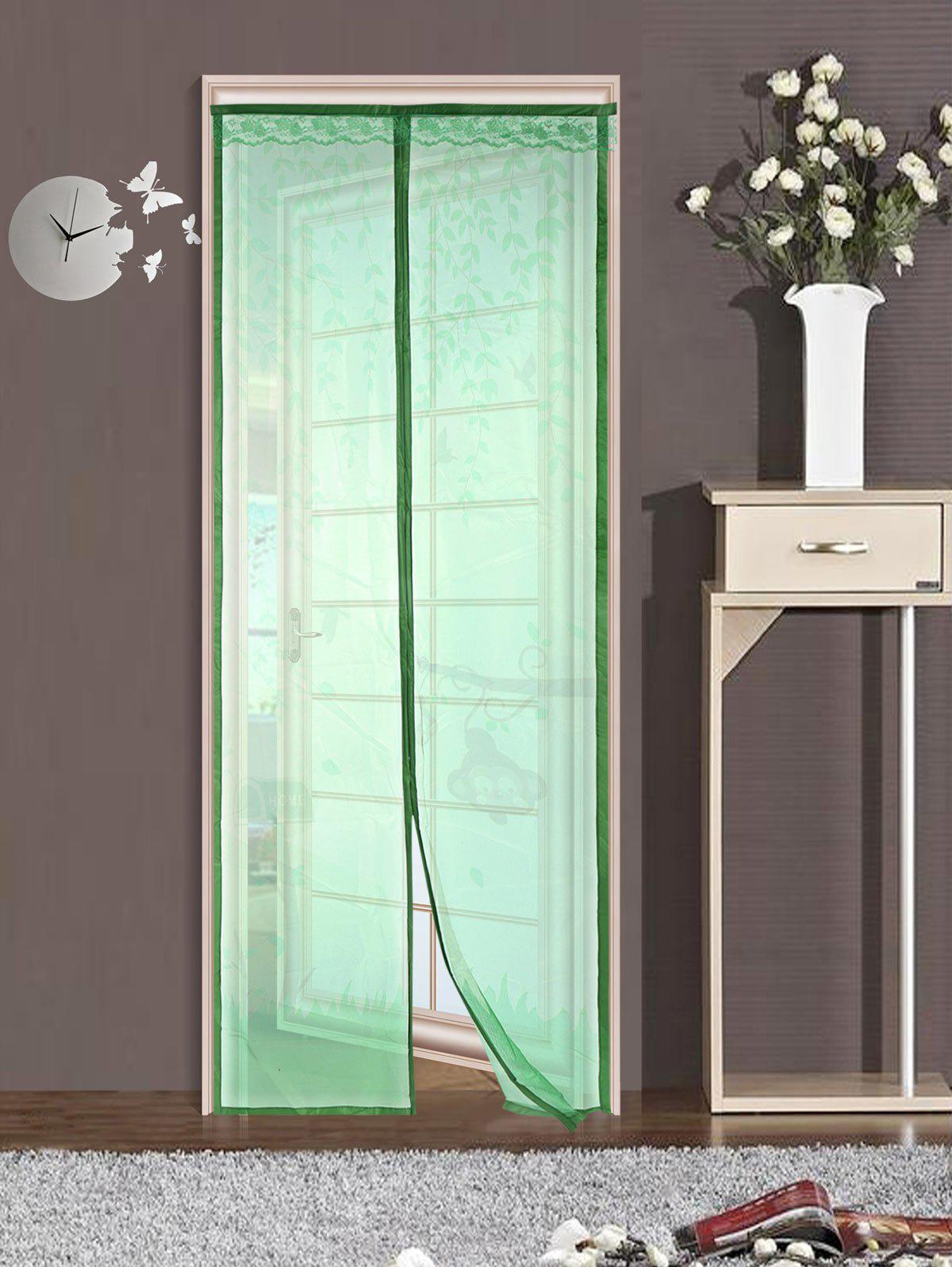 Green 90210cm Monkey Pattern Anti Mosquito Mesh Net Magnetic