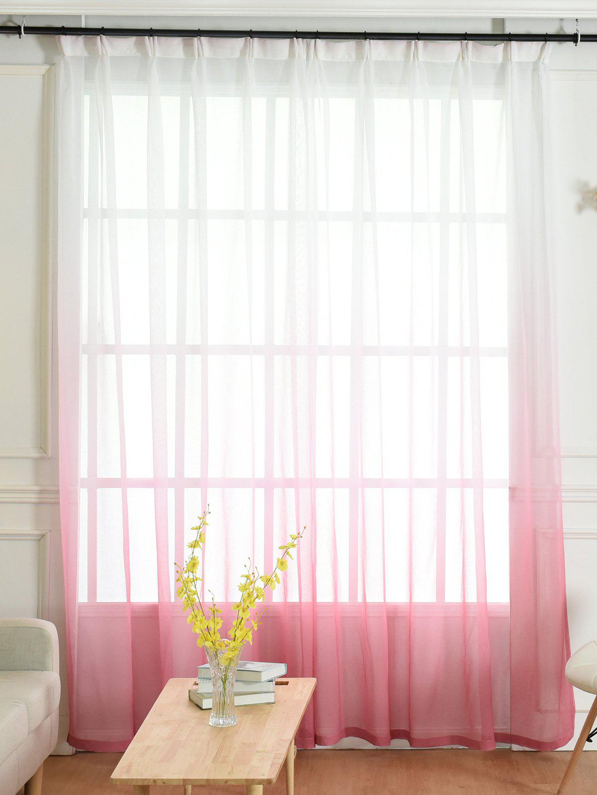 Window Screen Ombre Decorative Sheer Tulle CurtainHOME<br><br>Size: W54*L108INCH; Color: PINK; Applicable Window Type: French Window; Function: Translucidus (Shading Rate 1%-40%); Installation Type: Ceiling Installation; Location: Window; Material: Polyester / Cotton; Opening and Closing Method: Left and Right Biparting Open; Processing: Hook; Processing Accessories Cost: Excluded; Style: European and American Style; Type: Curtain; Use: Cafe,Home,Hospital,Hotel,Office; Weight: 0.4725kg; Package Contents: 1 x Window Curtain 1 x Hooks (Set);