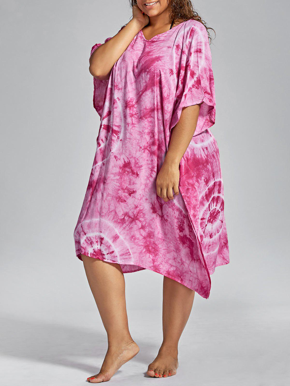 Affordable Plus Size Cover Up Dress with Batwing Sleeve