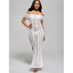 Off The Shoulder Maxi Cover Up Dress - WHITE S