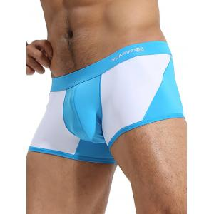 Mid Rise Twon Tone Trunks - Bleu XL