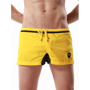Graphic Embroidered Drawstring Panel Sport Shorts