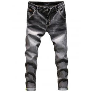 Zip Fly Ripped Skinny Jeans