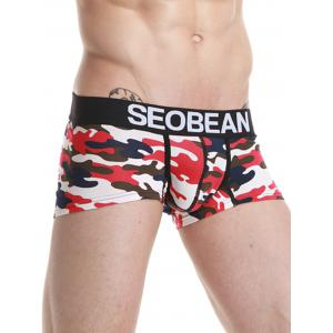 Camouflage Convex Pouch Graphic Trunk - RED XL