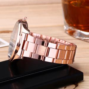 Alloy Strap Date Number Quartz Watch - ROSE GOLD