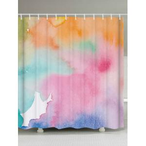 Extra Long Bathroom Decor Watercolor Shower Curtain