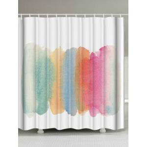 Watercolor Water Resistant Shower Curtain