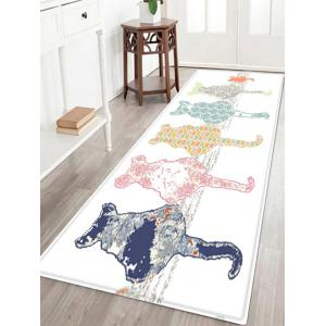 Cartoon Cat Pattern Anti-skid Water Absorption Area Rug - Colormix - W24 Inch * L71 Inch
