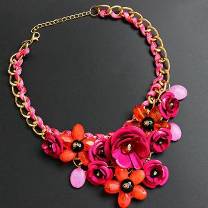 Statement Chunky Flower Necklace