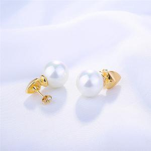 Artificial Pearl Tiny Drop Earrings