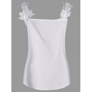 Plus Size Stereo Floral Sleeveless Top - WHITE 3XL