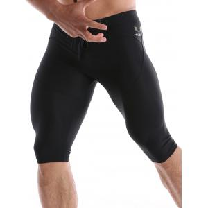 Drawstring Waist Tight Sport Shorts - BLACK XL