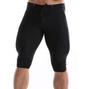 Drawstring Waist Tight Sport Shorts