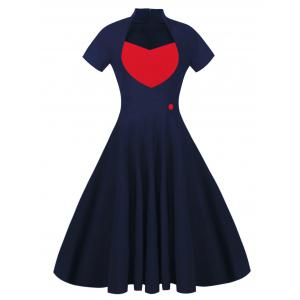 Sweetheart 50s Midi Vintage Swing Dress