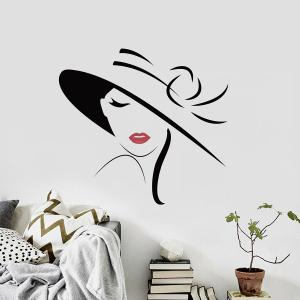 Girl Decorative Wall Art Sticker For Bedroom -