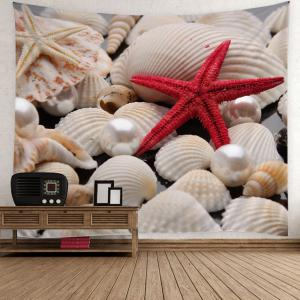 Sea Shell Starfish Pearl Print Wall Tapestry - Colorful - W79 Inch * L59 Inch