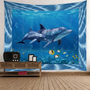 Fish Dolphin Ocean Print Wall Tapestry