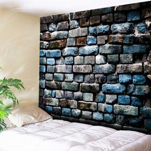Brick Wall Hanging Decorative Vintage Tapestry - Colormix - W79 Inch * L59 Inch