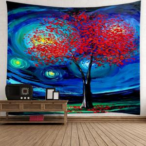 Home Decor Oil Painting Life of Tree Space Wall Tapestry