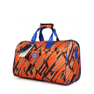Nylon Print Gym Bag - Orange